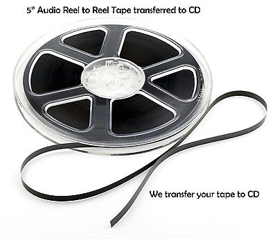 5 inch Reel to Reel Audio Tape Transferred to CD ~ Transfer / Copy Service 5""