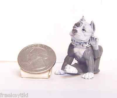 "Blue Nose White Pit bull Dog 2"" Figure Hood Hounds Scratching"