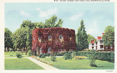 Round Tower Ft. Snelling Minnesota - Ww2 Linen Postcard
