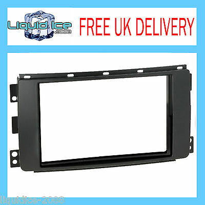 DFP-13-05 SMART FOR TWO 2007 ONWARDS BLACK SINGLE or DOUBLE DIN PANEL ADAPTOR