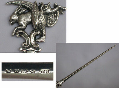 Very Rare Sterling Silver Early Victorian 1846 Game Skewer Francis Higgins II.