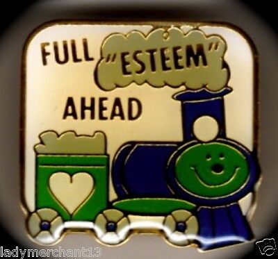 """FULL ""ESTEEM"" AHEAD"" Train Enamel Lapel Pins, Lot of 25/ALL NEW LINE!"