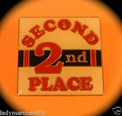 """""""SECOND 2ND PLACE"""" Award Lapel Pins, Wholesale (25) NEW"""