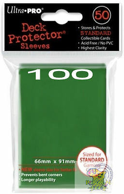 2 100 Ultra Pro Deck Protector Sleeves Brown 50 count packs Pokemon Mtg WoW