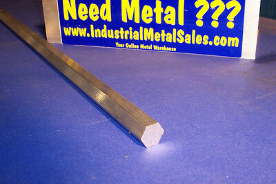 "3/4"" x 24""-Long 6061 T6 Aluminum Hexagon Bar-->.750"" 6061 Aluminum Hex"