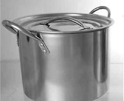 DEEP STAINLESS STEEL STOCK SOUP POT STOCKPOT 6LT 8.2 LT 11.5 LT AND 15.2 Litres