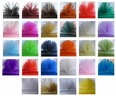 29cm; Eleganza; Sheer Organza; Fabric; 26 Gorgeous Colours; 3 Lengths Available.