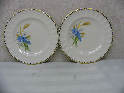 American Limoges*wheatfield Fluted*2 Bread Plates