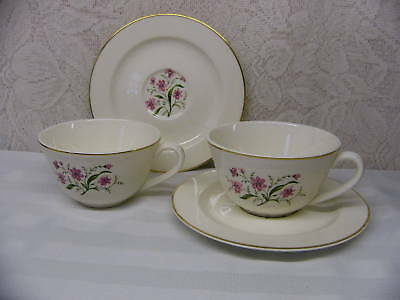 KNOWLES CHINA*SPRING SONG*2 CUP & SAUCER SETS