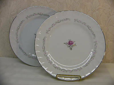 FINE CHINA OF JAPAN*ROYAL SWIRL*2 DINNER PLATES
