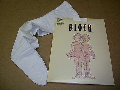 NEW IN PACKAGE  Bloch Dance White Tights Ballet Girls Footed TO921G Nylon Lycra