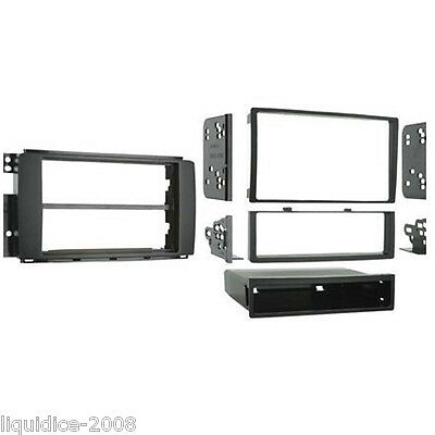 CT24MM07 SMART ForTwo 2007 to 2010 BLACK SINGLE OR DOUBLE DIN FASCIA PANEL KIT