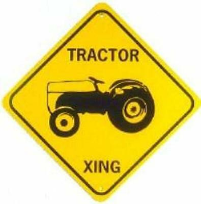 FORD TRACTOR XING  Aluminum Sign  Won't rust or fade