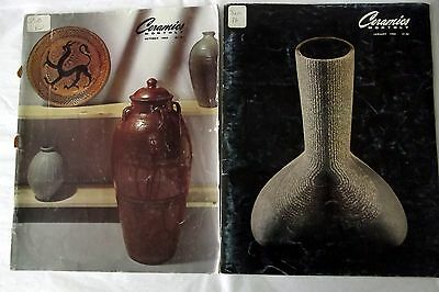 2 CERAMICS MONTHLY Magazine Back Issues 1982 Vol 30 Art Pottery