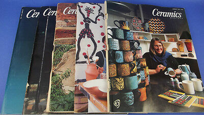 5 CERAMICS MONTHLY Magazine Back Issues Mixed Lot 1995-96-98 Art Pottery