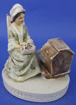 Sebastian Miniature SML-173 Colonial Lacemaker 1981 Red Sticker Mother Child