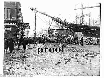 Early New York photo Wharf Vintage Tall Sailing Ships late 1880's