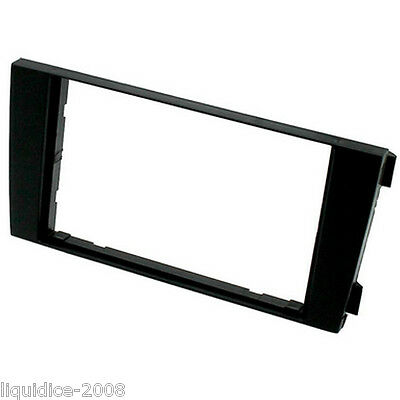 CT24AU18 AUDI A6 2001 to 2004 BLACK DOUBLE DIN FASCIA ADAPTER PANEL PLATE