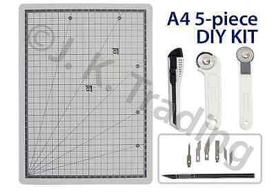 Scrapbooking DIY 5pc A4 self healing cutting mat, 28mm rotary cutter, etc