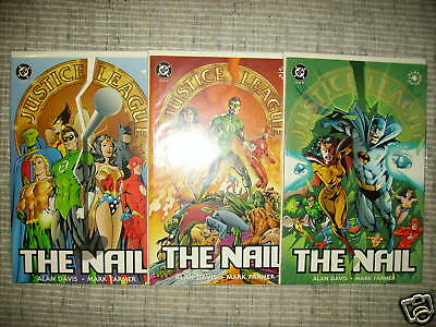 Justice League: The Nail #1 2 3 & Another Nail #1 2 3 Dc Elseworlds! Alan Davis!