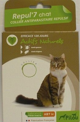 COLLIER ANTI TIQUES PUCES POUR CHAT protection maximum