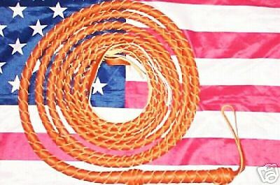 Tan Real Leather INDIANA JONES STUNT BULLWHIP 12 Foot 4 Plait BULL WHIP Whips