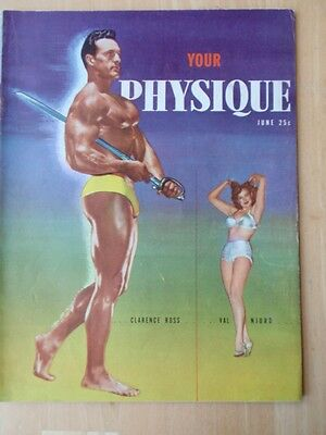 YOUR PHYSIQUE muscle bodybuilding magazine/CLARENCE ROSS/Steve Reeves 6-49