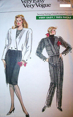 Miss MP Vogue 7106 Sewing Pattern UNCUT Very Easy Jacket Pants Skirt Sz 6-8-10