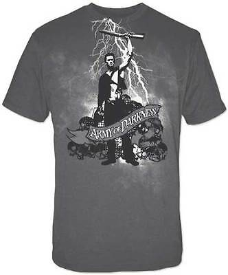 ARMY OF DARKNESS:White Lightning:T-shirt NEW:SMALL ONLY