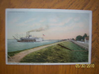 Rare The Levee at Chalmette, New Orleans Postcard
