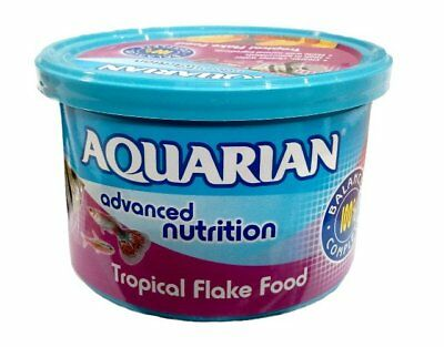AQUARIAN 50g TROPICAL FISH FOOD FLAKES FRESH WATER