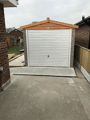 "20Ft 3"" X 10Ft 6"" Apex  Concrete Sectional Garage/garage,free Upvc In November"