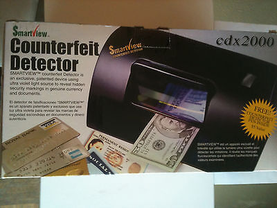 Smartview counterfeit money detector with free detector pin cdx 2000