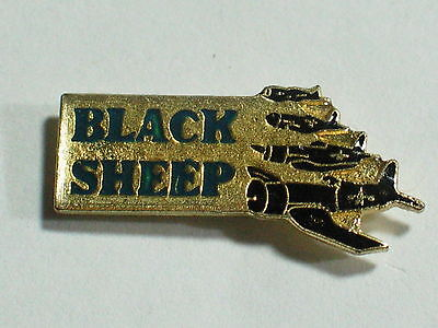 Vintage Black Sheep Warbird Airplane Pin **
