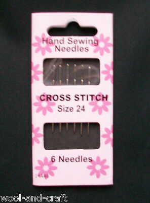 Hand Sewing Cross Stitch Needle 6 Needles Size 24 (P)