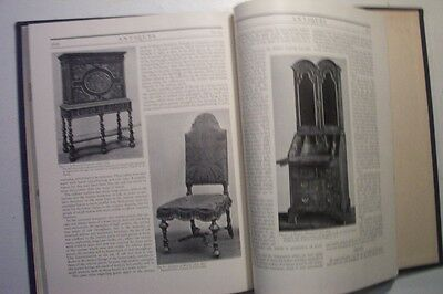 Old Antiques Monthly Magazine Vol Iii January-June 1923 Bound Furniture Glass Et