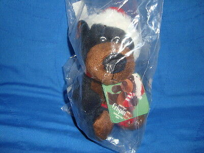 Sears Christmas Plush Beanbag Black Bear 2010 Crispin