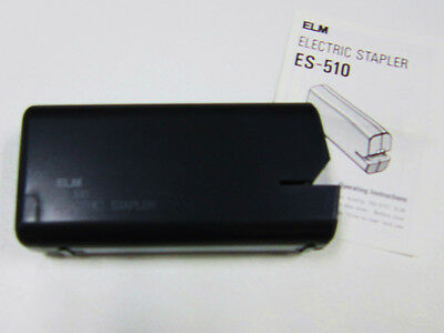 Elm Electric Stapler ES-510 Black Battery Operated (Batteries not Included) 4 AA
