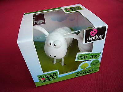 Sheer Sheep Cat Kitten Toy With Catnip Watch Your Pet Unravel The Fleece & Play