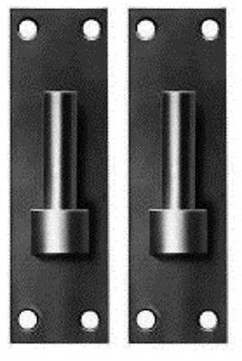 """2 x 12.5mm 1/2"""" Hook on Plate Gate Band Hinge Pin BLACK Colour Heavy Duty 1 Pair"""