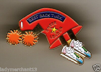 """BEST BACK TUCK"" Megaphone""CHEER LEADER"" PINS (25) All New"