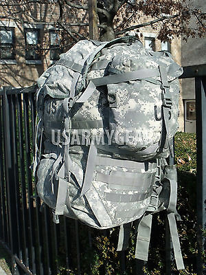 US ARMY MOLLE II SDS ACU Rucksack Digital Back Pack + 2 Sustainment Pouches USGI