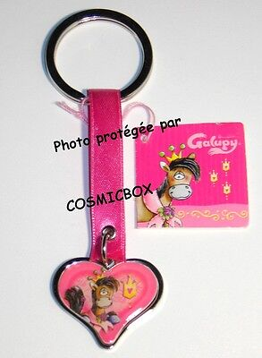 Porte clés métal DIDDL collection coeur GALUPY rose keychain figure keyring NEUF