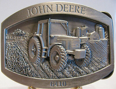 * John Deere 6410 Tractor Belt Buckle 1999 Limited Edition jd  Pewter  1 / 5000