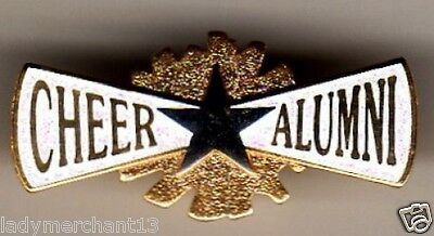 """CHEER ALUMNI"" Silver/Gold ENAMEL LAPEL PINS (WHOLESALE LOT OF 25) All New Line!"