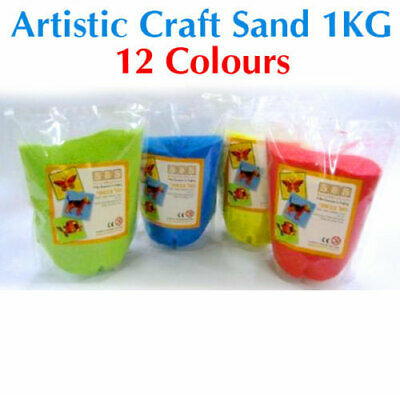 Quality Artistic Craft Sand 1kg Bags - Many Colours
