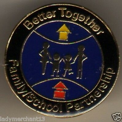 """""""Better Together Family/School Partnership"""" Lapel Pins/Lot of 25 New Line!"""