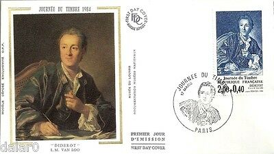 JOURNEE DU TIMBRE 1984 - Diderot - Enveloppe FDC