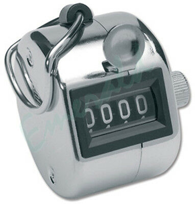 Hand Held Tally 4 Digit Counter Number Clicker New