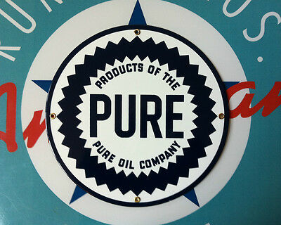 PURE OIL COMPANY - PORCELAIN COATED SIGN - shipping discounts